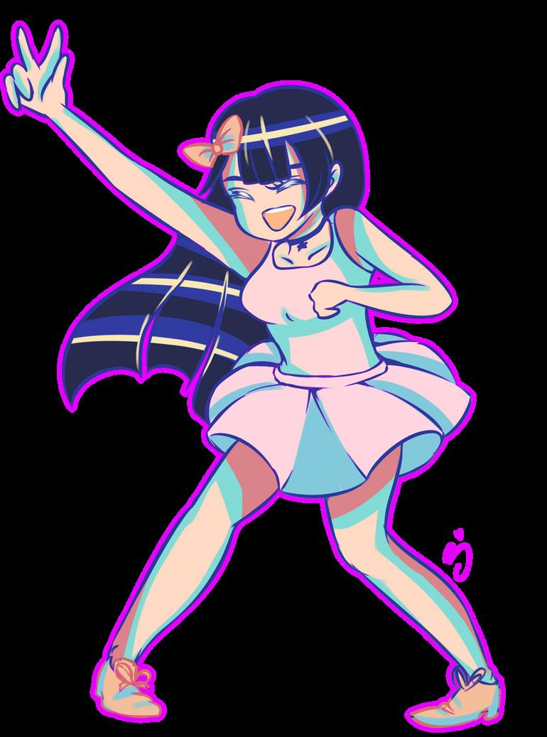 kawaii cute girl w/ peace sign! by BerryKiss677