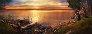 Pond .04 Panorama by asetix