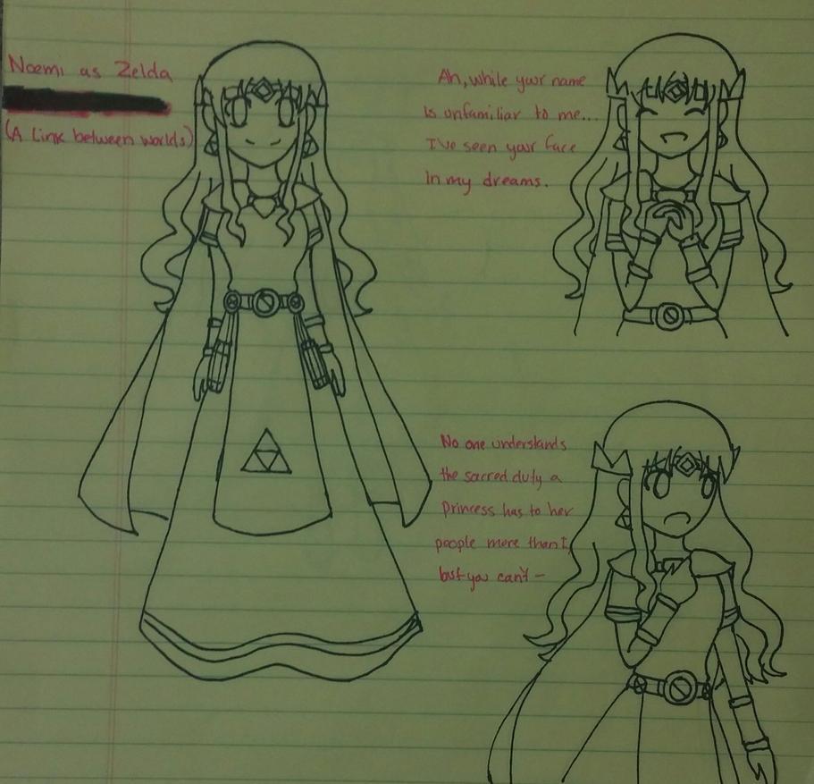 Noemi as Princess Zelda (ALBW) by SapphireYuki-Sama