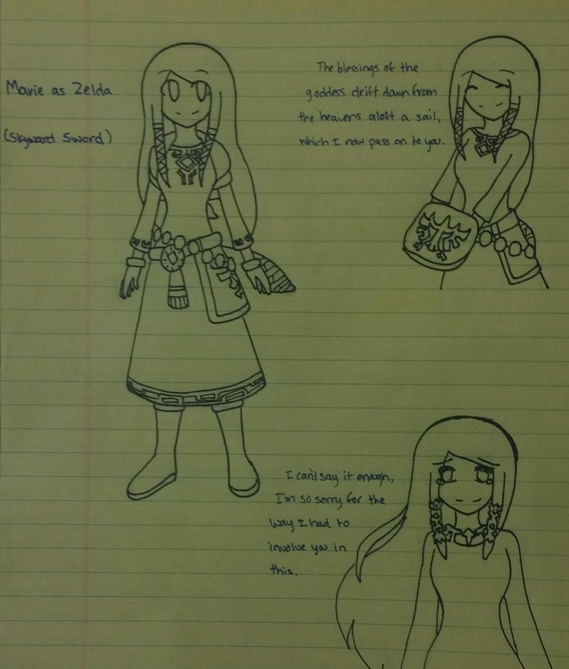Marie as Zelda (SS) by SapphireYuki-Sama