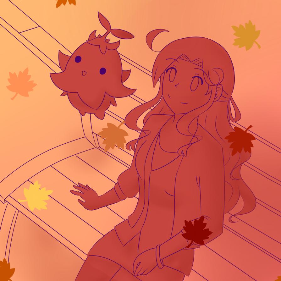 DK: Watching the Autumn leaves by SapphireWingsYuki