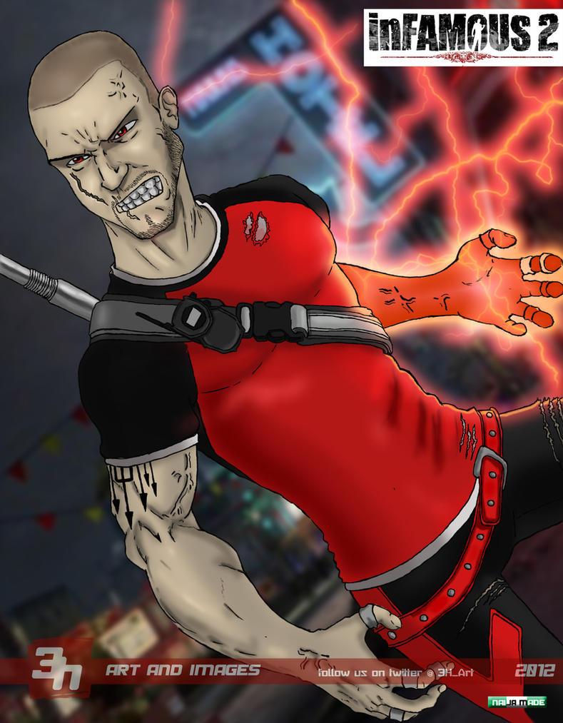 Infamous 2 Evil Cole by toziren on DeviantArt
