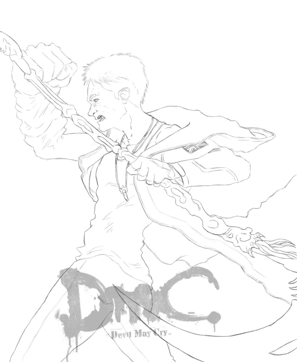 devil may cry coloring pages - photo#3
