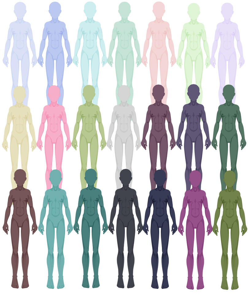Extraordinaire Fantasy Skin Colors Test by applestruddles