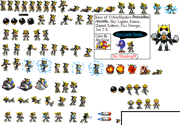 Metal Sonic Battle Sprites