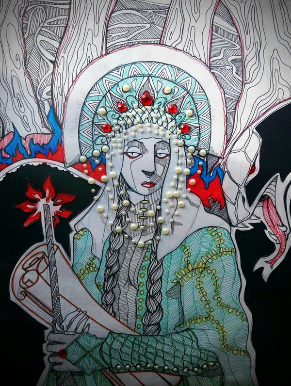 Slavic Witch by hashhaha