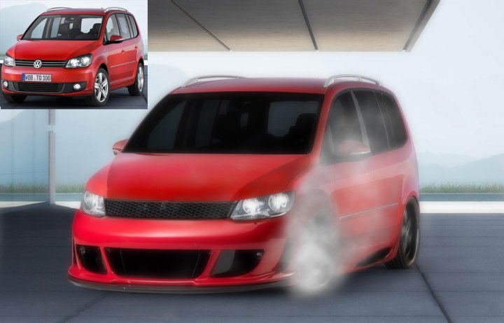 vw touran tuning by donzy114 on deviantart. Black Bedroom Furniture Sets. Home Design Ideas