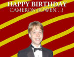 Happy Birthday Cameron Bowen!