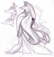 Kitsune in Kimono by Cyber-Materia
