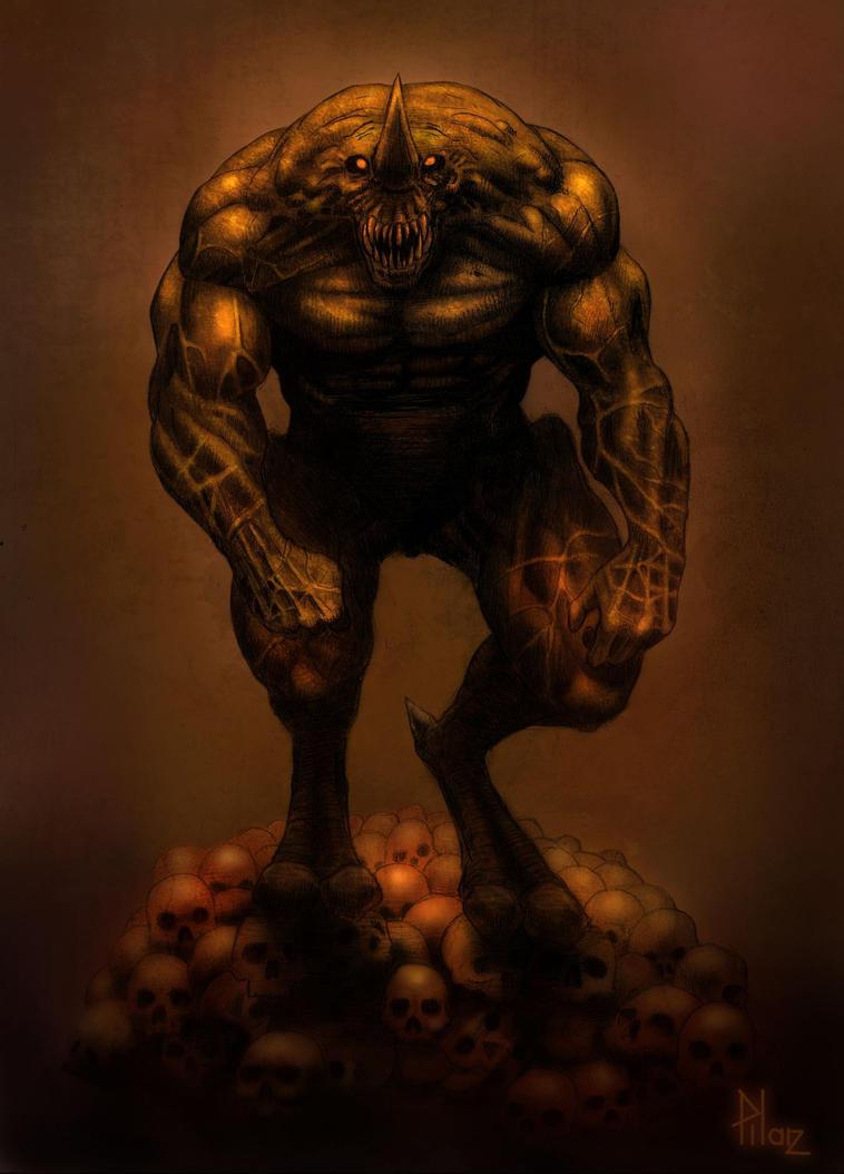Horned Demon Deviant by TepesArt
