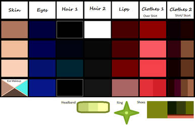 Rebecca Original (and Alternate) Colors