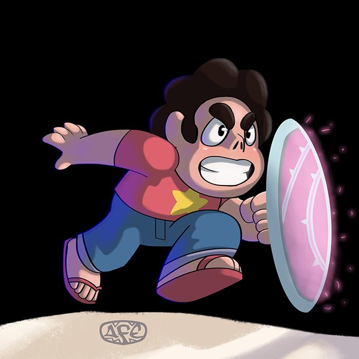 Fan art - Steven Universe Commission: 30 USD (Inbox) Copyright © Rebecca Sugar