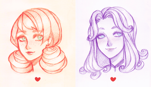 Stardew Valley. Penny and Abigail
