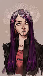 Speedpaint. Septum and Flowers by AShiori-chan