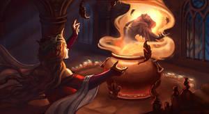 Metamorphosis. Key-shot for the fantasy tale