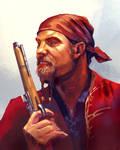Pirate. Digital art portrait