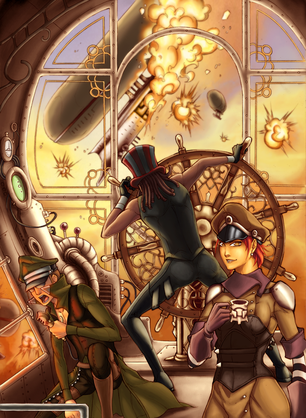 Steampunk Coloring Book By Uber Goober Games : Uber rpg steampunk cover by jmayura on deviantart