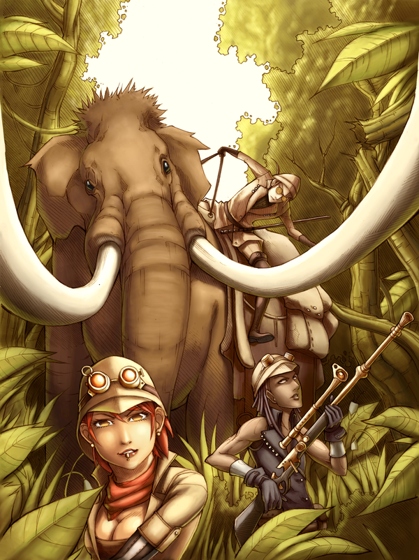 Steampunk Coloring Book By Uber Goober Games : Uber rpg uncharted steampunk cover by jmayura on deviantart
