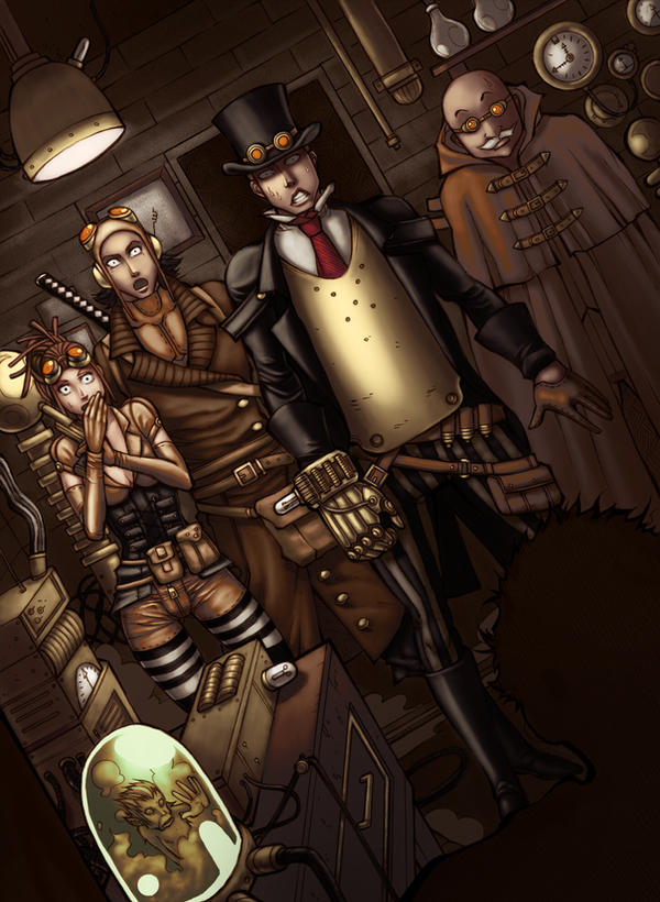 Steampunk Coloring Book By Uber Goober Games : Uber rpg steampunk scenario book cover by jmayura on deviantart