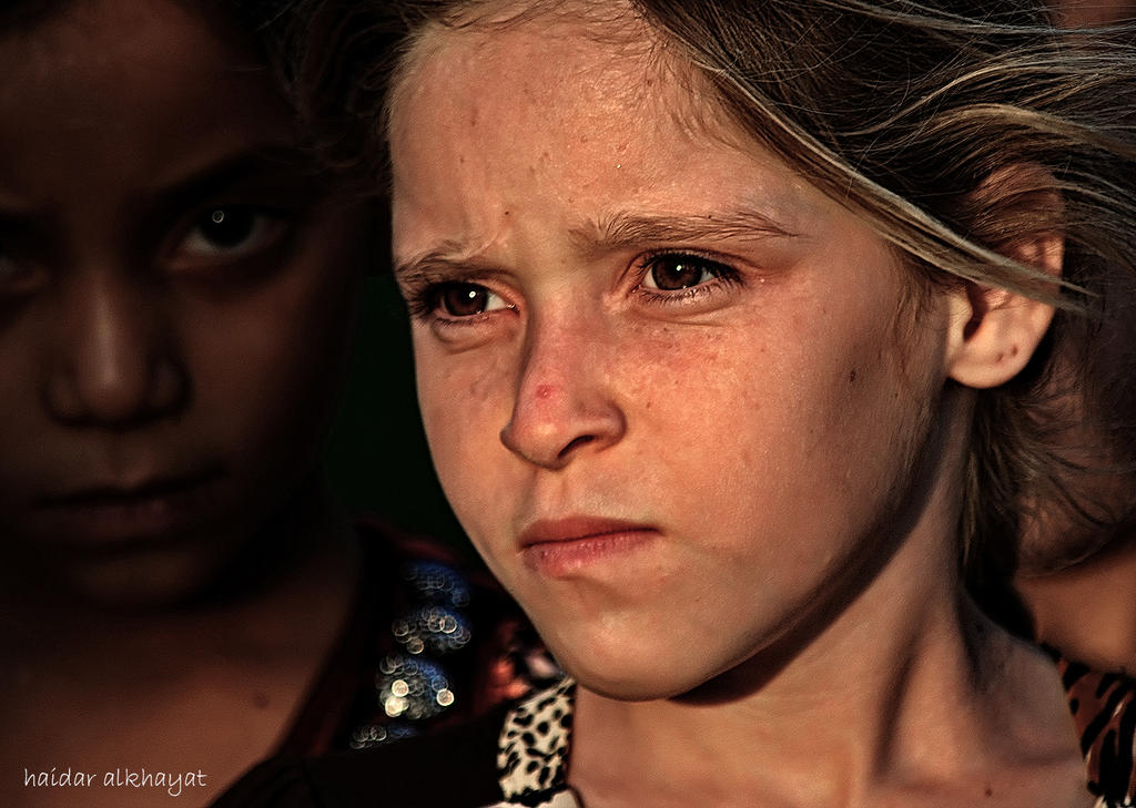 A young girl from Iraq by haidaralkhayat