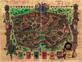 Baldur's Gate City Map - Whole