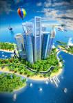 Dubai's building poster