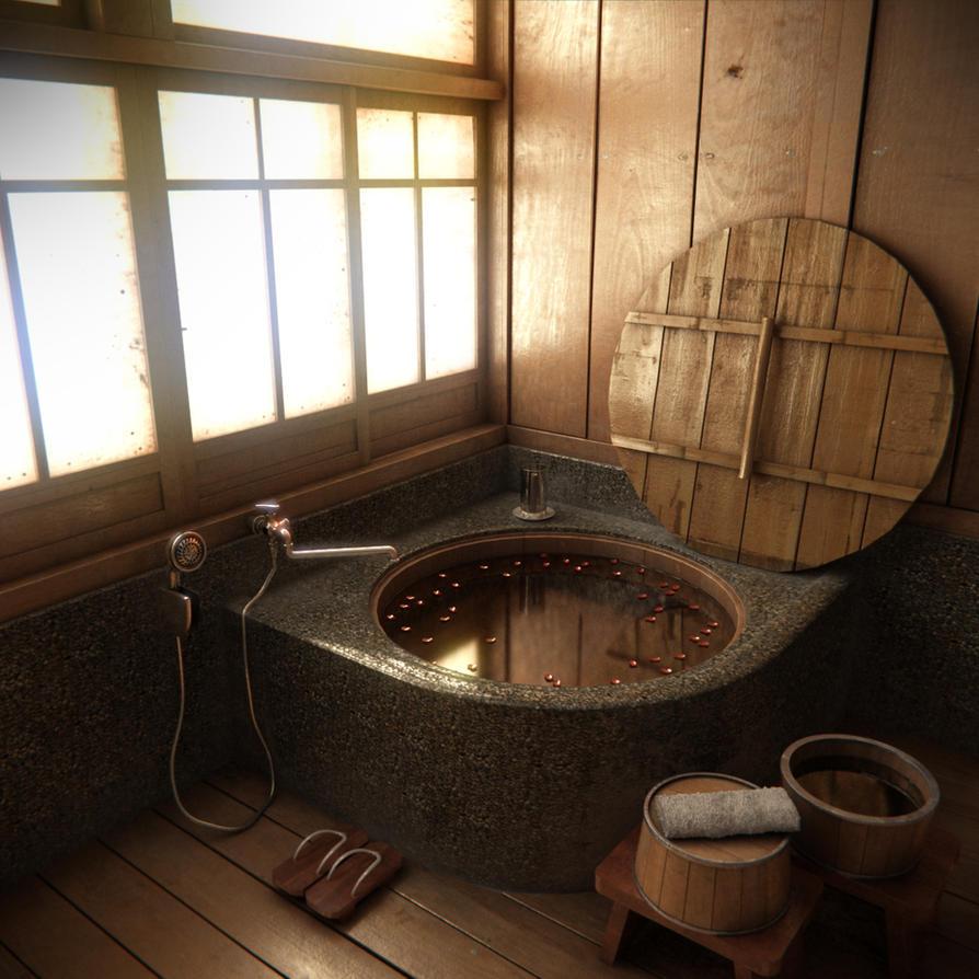 Bathroom scene - day time by mrhahn98 on DeviantArt