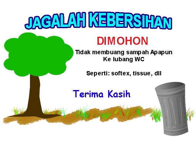 Poster Jagalah Kebersihan