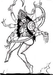 The Goddess Kali pencils by johnnyharadrim
