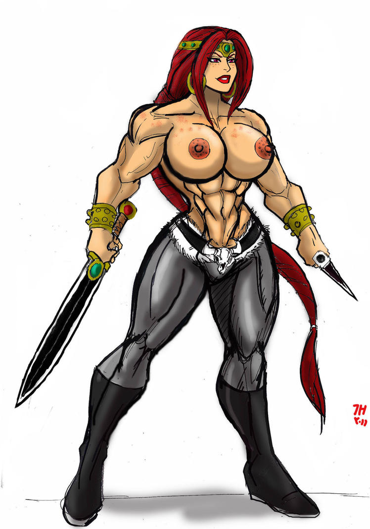 Red the Barbarian by johnnyharadrim