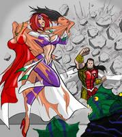 Auren and Steelwolf for UrsaMagnus by johnnyharadrim