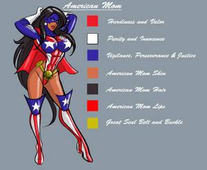 American Mom color scheme