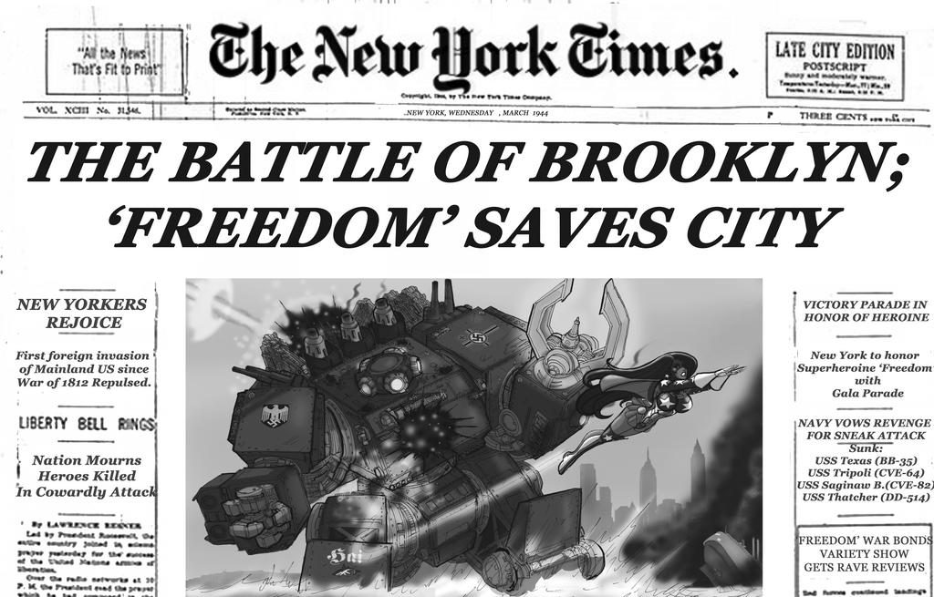 The Battle of Brooklyn by johnnyharadrim