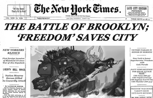 The Battle of Brooklyn by johnnyharadrim