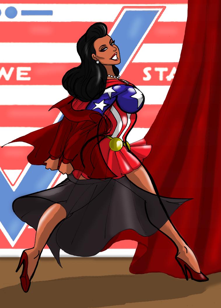 AM Freedom  War Bonds Variety Show costume change by johnnyharadrim