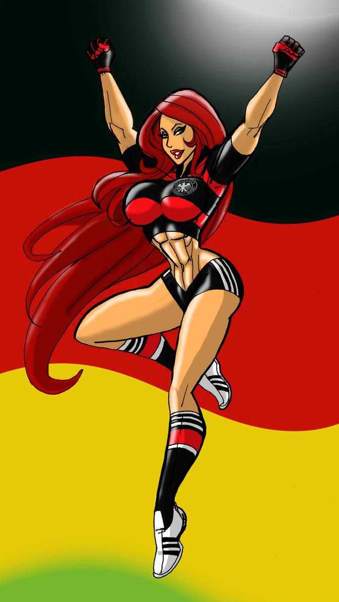Brunhilda Fussball Girl by johnnyharadrim