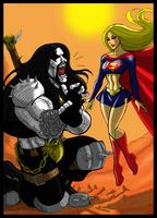 Supergirl  pwns Lobo for Cerebus873 by johnnyharadrim