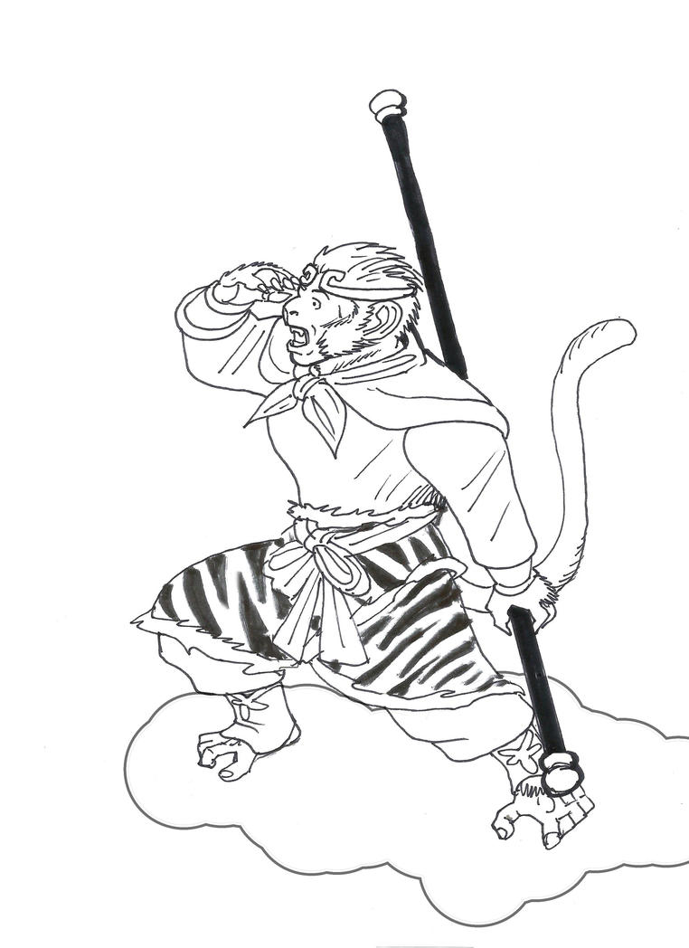 It is a picture of Accomplished Sun Wukong Drawing