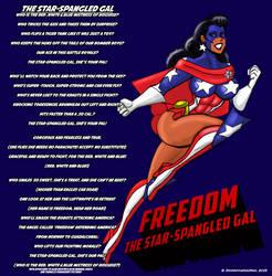 Freedom The Star Spangled Gal Lyrics by johnnyharadrim