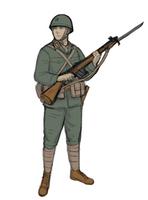 Alternate History 1960's Japanese Soldier