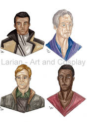 Markus, Carl, Simon and Josh by WaldelfLarian