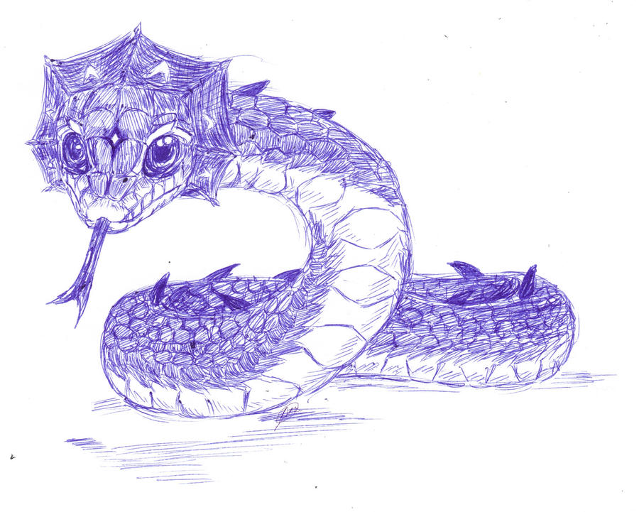 Easy Drawings of Snakes Realistic Snake DrawingRealistic Snake Drawing