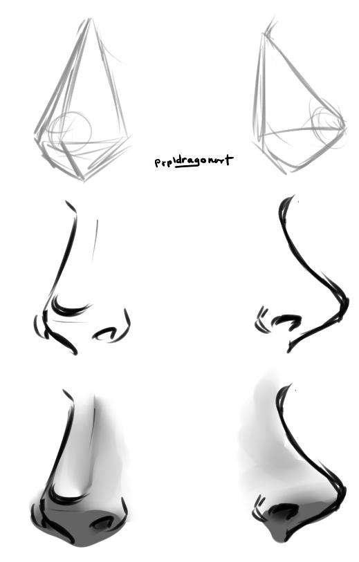 Line Drawing Tumblr Tutorial : Nose drawing tutorial by prpldragon on deviantart