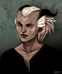 DA: Adaar Portrait by Vaahlkult