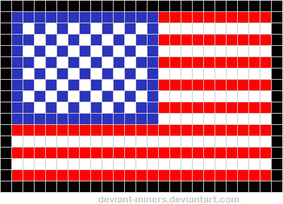 American Flag Pixel Art Template FREE by deviantminers on