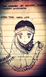 Hijab Girl with Big Eyes by Wiedesignarch