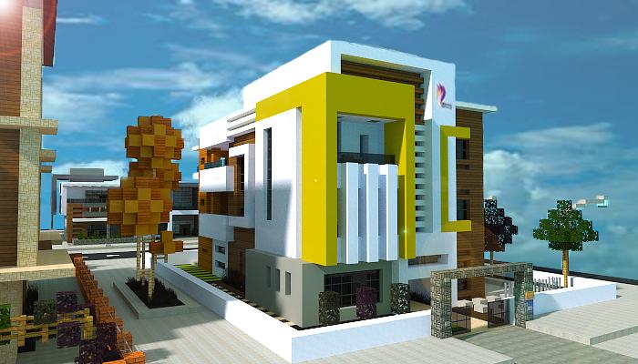 Minecraft Modern House By Jarnine