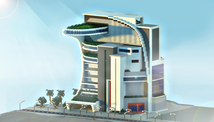 Minecraft modern building by jarnine on deviantart for Modern building design minecraft