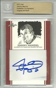 Johnny Manziel Leaf Trading Cards Redemption #1 by JRosales1