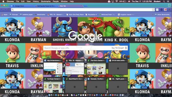 My Custom Google Chrome Smashified Wallpaper By